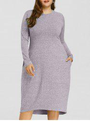 Robe taille haute à taille basse Space Dye -