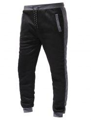 Color Spliced Drawstring Sports Jogger Pants -