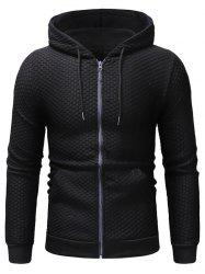 Contrast Pouch Pocket Pullover Textured Zipper Jacket -