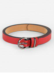 Simple Artificial Leather Skinny Pant Belt -