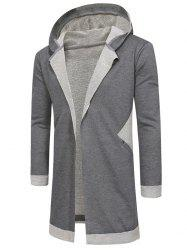 Hooded Unbuttoned Long Cardigan -