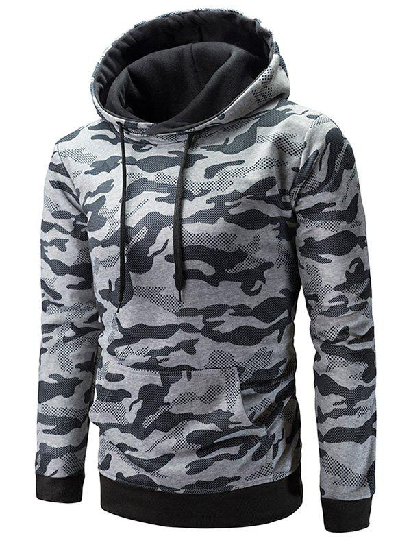 Discount Pouch Pocket Camouflage Hoodie