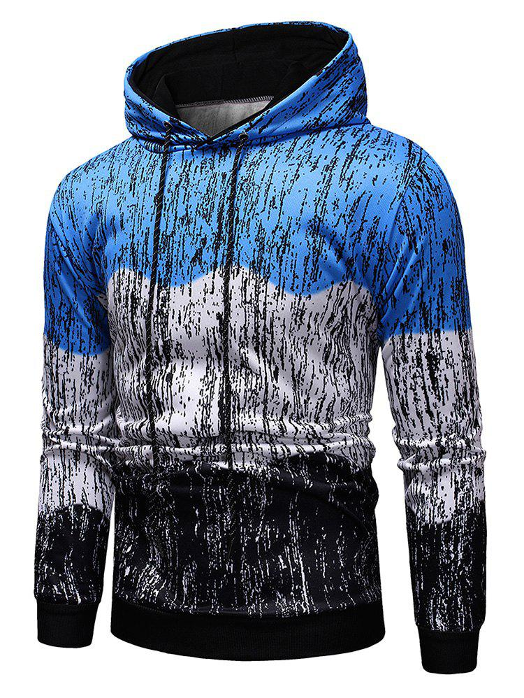 Shops Splash-ink Printed Contract Color Pullover Hoodie