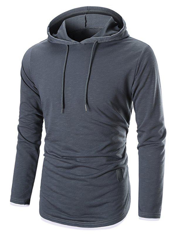 Unique Long Sleeves Drawstring Pullover Hoodie