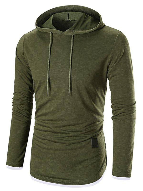 Outfits Long Sleeves Drawstring Pullover Hoodie