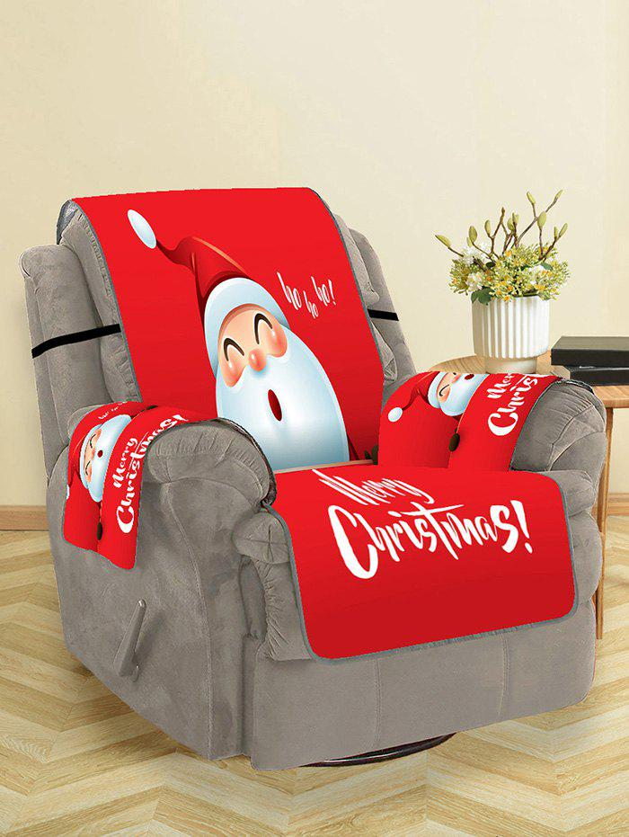 Store Cute Father Christmas Pattern Couch Cover