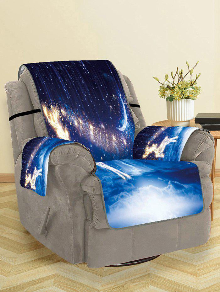 Fancy Christmas Starry Sky Deer Pattern Couch Cover