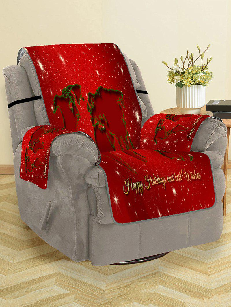 Shops Christmas Map Pattern Couch Cover