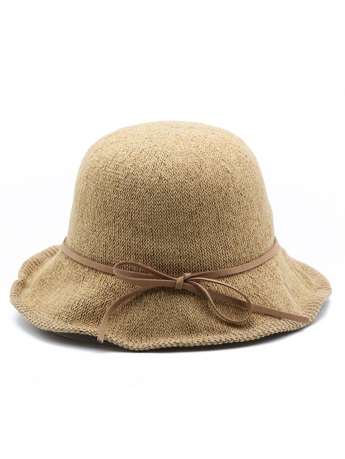 9c9201fe173a4 2019 Bowknot Solid Color Elegant Buckle Hat