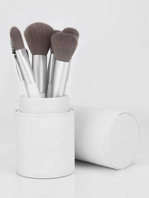 Best 12 Pcs White Handle Soft Handle Makeup Brush Set with Brush Cylinder
