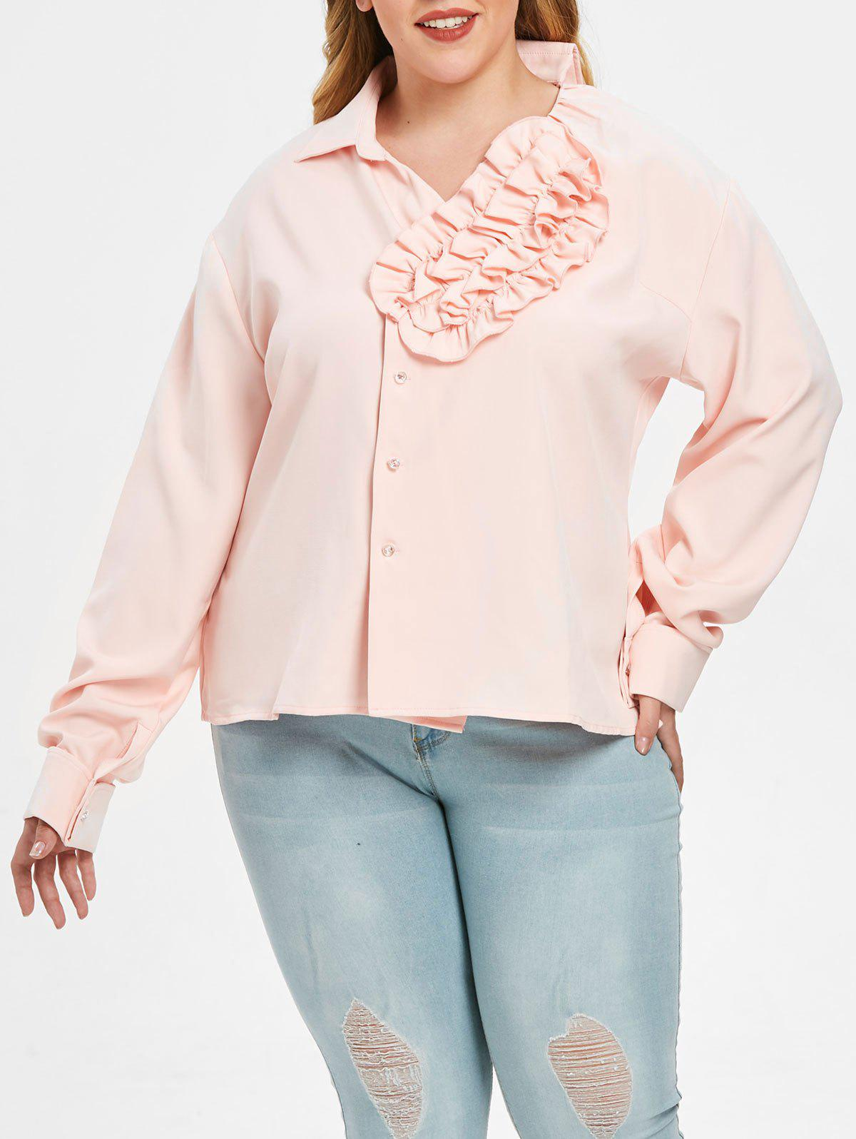 Affordable Ruffled Plus Size Shirt