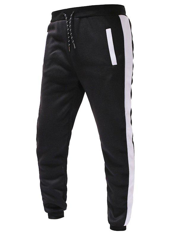 Store Color Spliced Drawstring Sports Jogger Pants