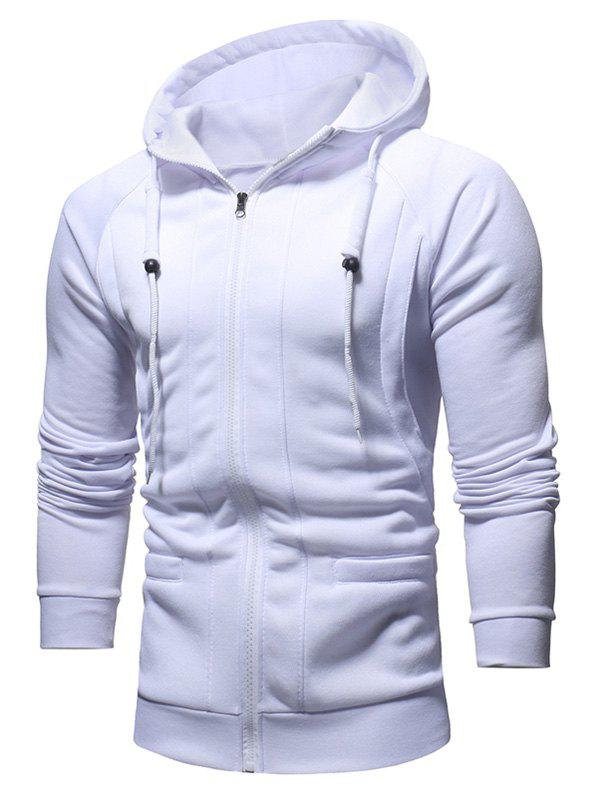 Hot Slimming Zip Fly Drawstring Hoodie