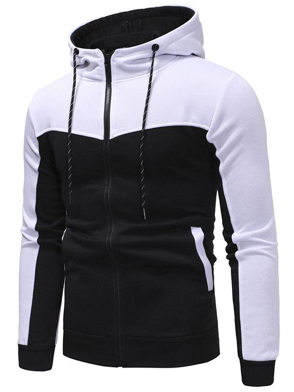 Store Hooded Contract Color Drawstring Hoodie
