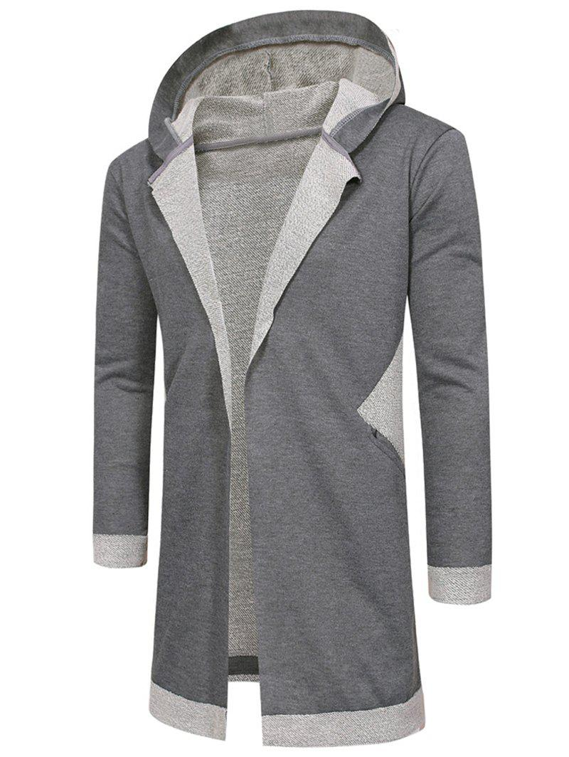 Shops Hooded Unbuttoned Long Cardigan