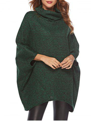 Cowl Neck Oversized Cape Sweater