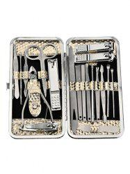 19 Pcs Manicure Nail Clipper Travel Grooming Set -