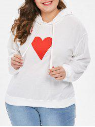 Plus Size Pullover Playing Cards Letters Hoodie -