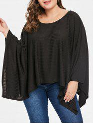 Round Neck Plus Size Asymmetrical Hem T-shirt -