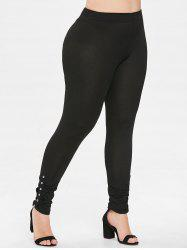 Plus Size Pleated Leggings -