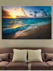 Sunset Beach Scenery Printed Wall Art Canvas Painting -