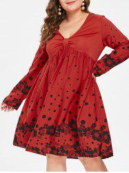 Plus Size Swing Polka Dot Dress -