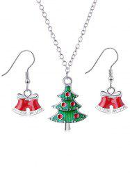 Christmas Tree and Bells Design Jewelry Set -