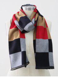Colored Plaid Winter Long Scarf -