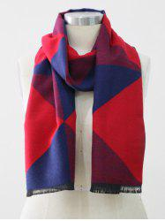 Color Block Fringed Long Scarf -