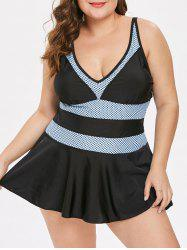 Plus Size Skirted Tankini Set -