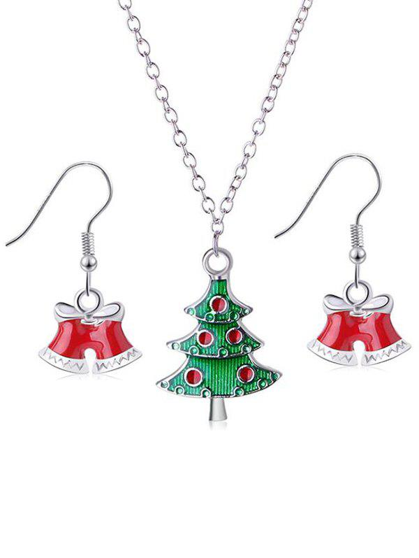 Hot Christmas Tree and Bells Design Jewelry Set