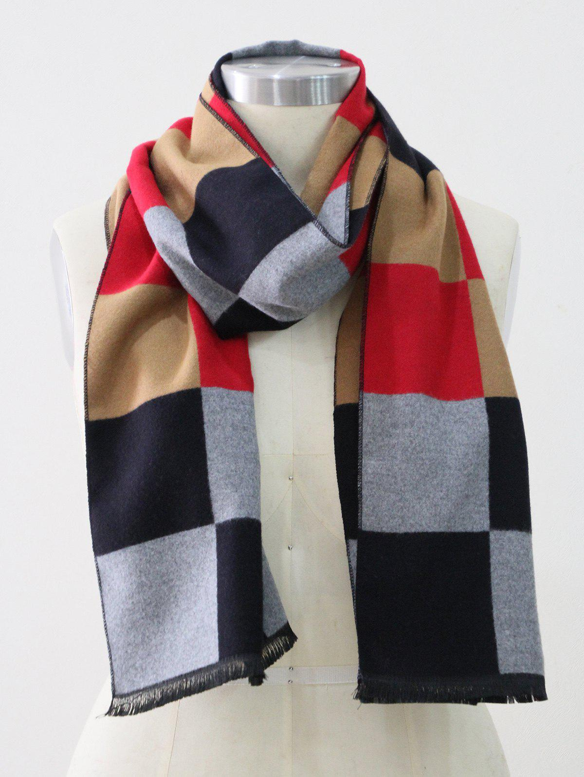 Outfits Colored Plaid Winter Long Scarf