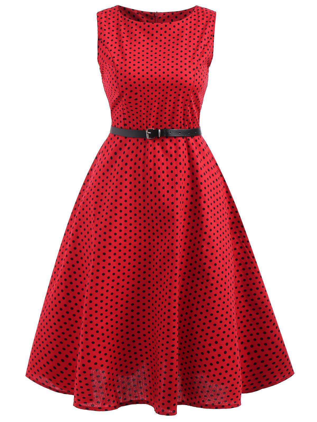 Latest Polka Dot Ball Gwon Dress