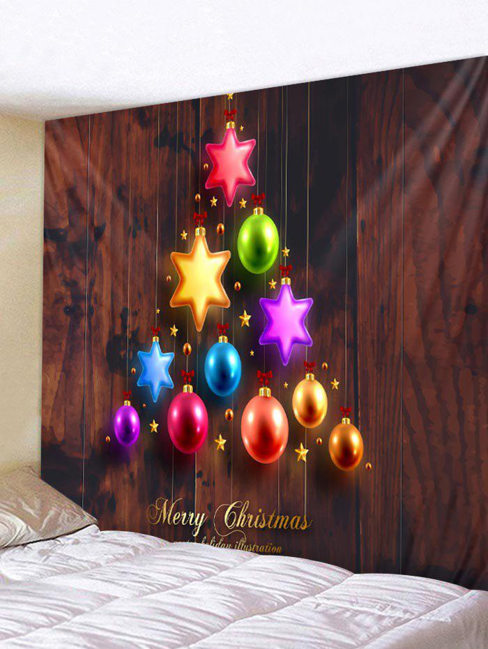 014ccee439c 2018 Christmas Ball Tree Print Wall Art Tapestry In Multi W79 X L59 ...