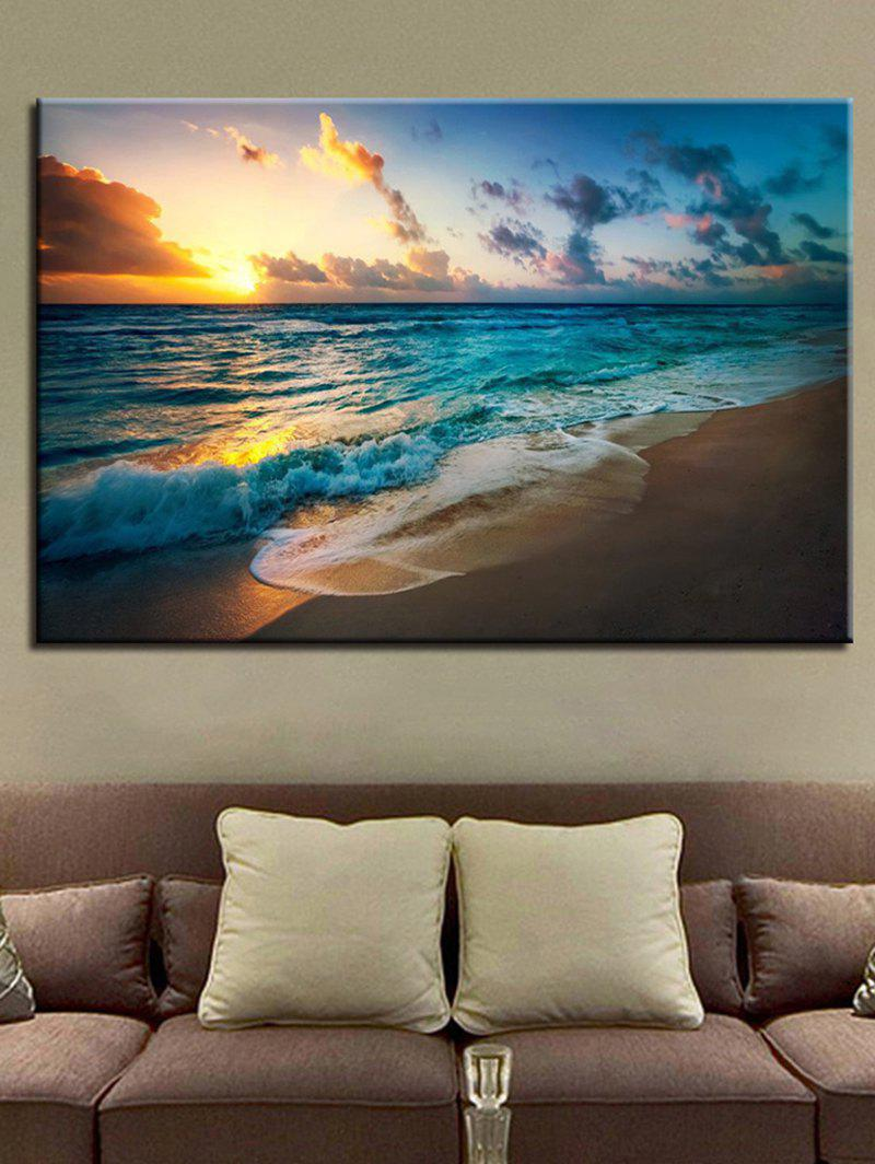 Cheap Sunset Beach Scenery Printed Wall Art Canvas Painting