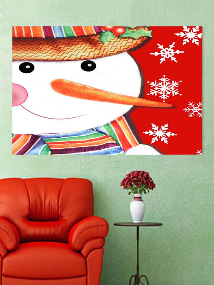 Online Snowman Snowflakes Printed Christmas Wall Sticker