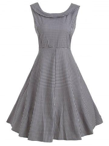 61e144b500d7 Black Checked Dress - Free Shipping, Discount and Cheap Sale ...