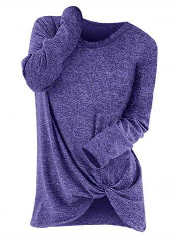 Knotted Long Sleeve Pullover Sweater