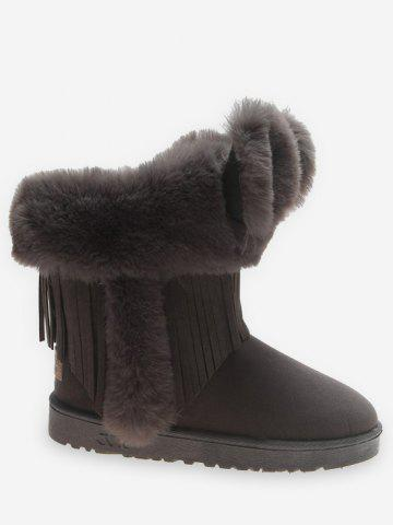 Faux Fur Ears Snow Boots