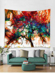 Colorful Tree Print Tapestry Wall Hanging Decoration -