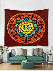 Flower Mandala Print Tapestry Wall Hanging Art Decoration -