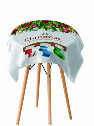 Christmas Stocking Printed Fabric Waterproof Table Cloth -