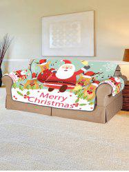 Deer Father Christmas Pattern Couch Cover -