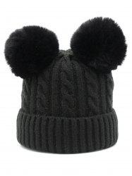 Winter Flanging Knitted Ski Hat -