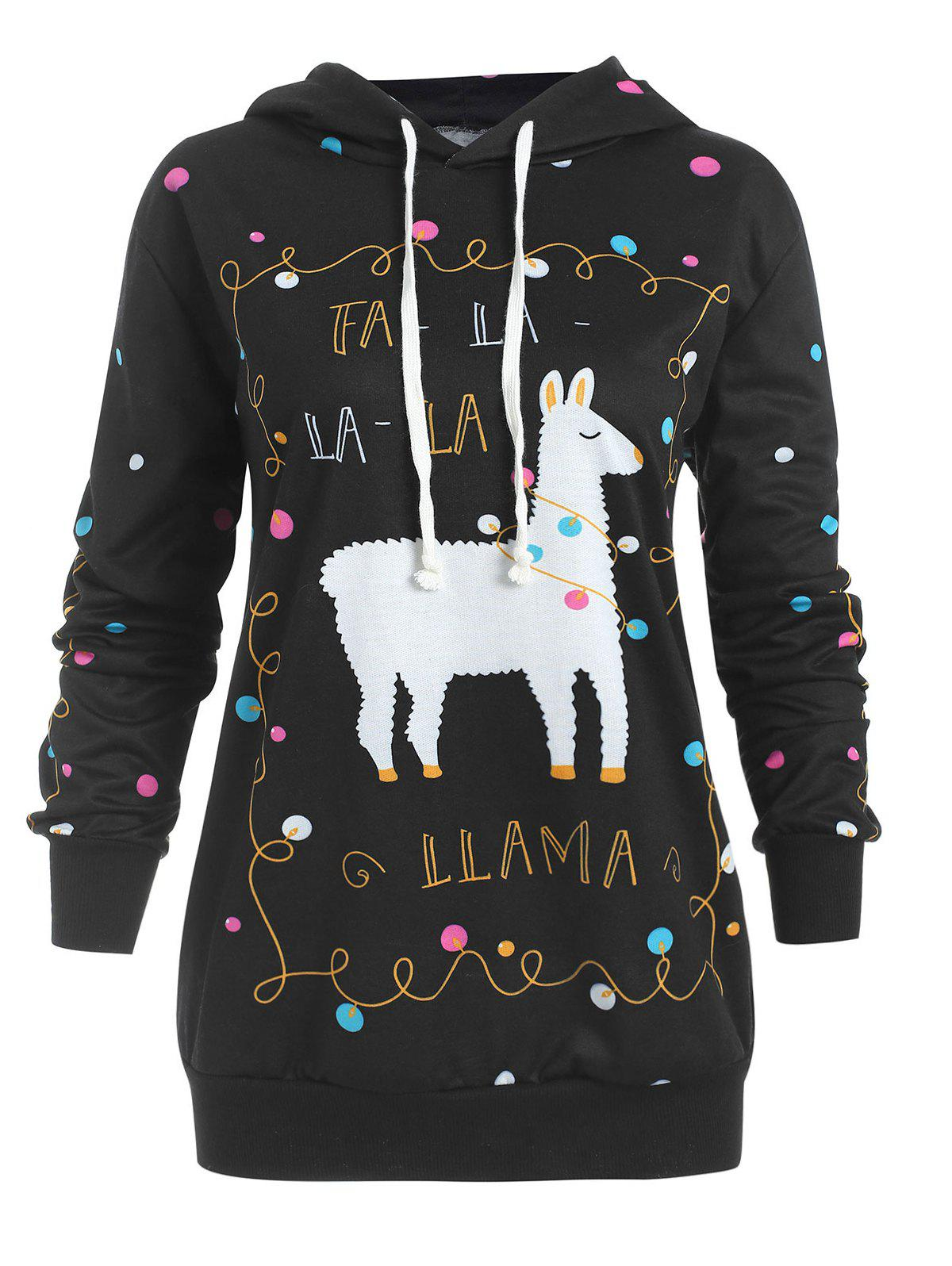 Outfits Christmas Pony Pattern Plus Size Polka Dot Hoodie