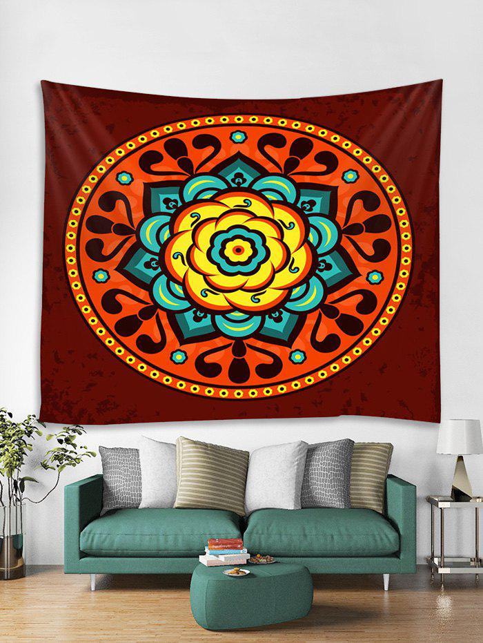 Unique Flower Mandala Print Tapestry Wall Hanging Art Decoration