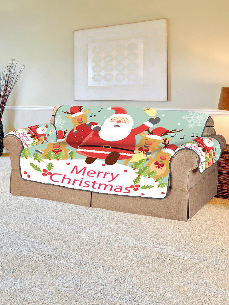 New Deer Father Christmas Pattern Couch Cover