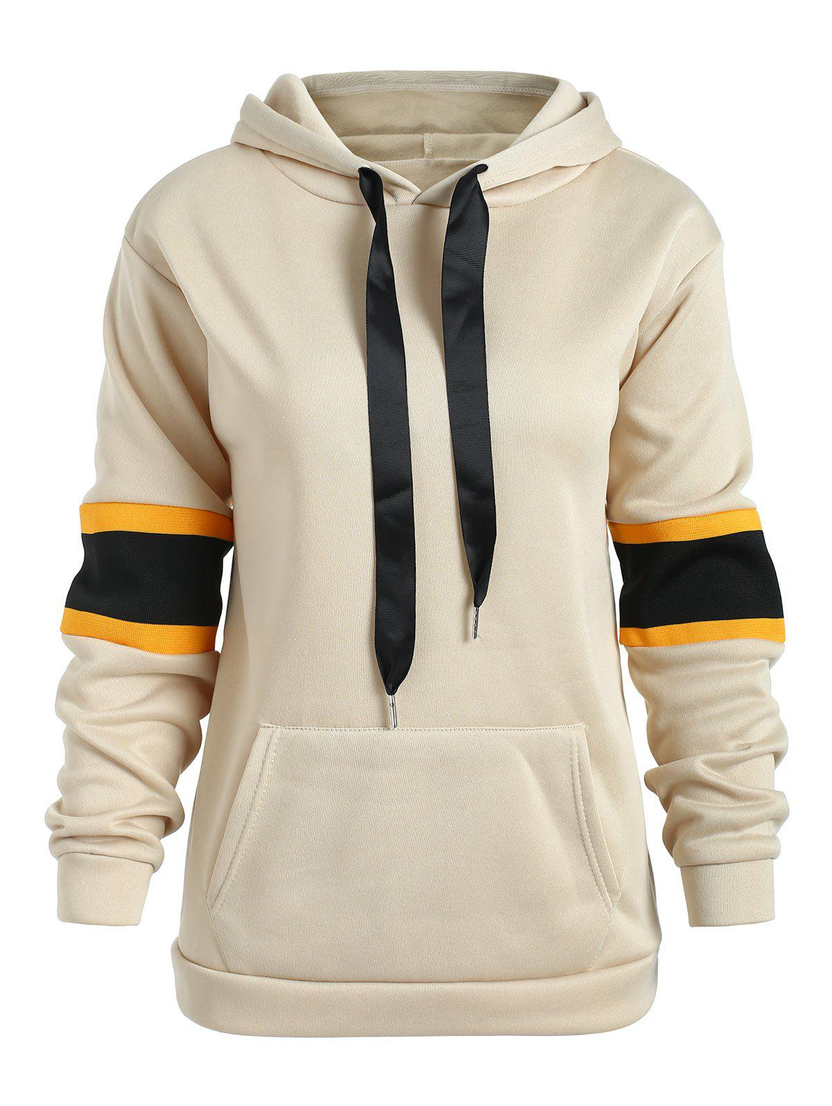 Outfit Long Sleeve Panel Pullover Hoodie