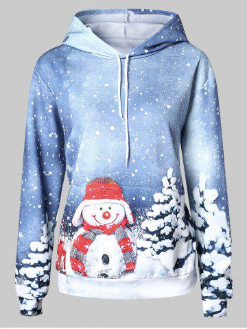 Plus Size Snowman Pullover Hoodie
