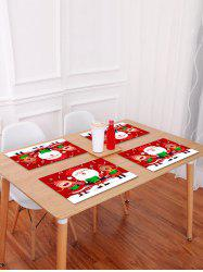 1PC Cartoon Father Christmas Printed Placemat -